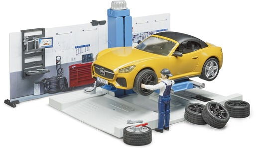 Bruder Figure Set Car Service