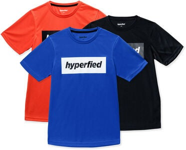 Hyperfied Edge T-Shirt 3-pak, Black/Blue/Koi