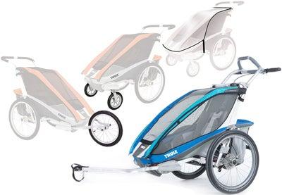 Thule Chariot CX1 Vogn m. Cykelkit, Gåturs-kit, Joggerkit & Regnslag | item_misc