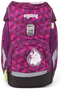 Ergobag Prime Rygsæk Night CrawlBear 20L, Flower Wheel Purple