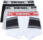 Diesel Ussy 3-pak Underbukser, White Printed /Black/Light Grey Melange