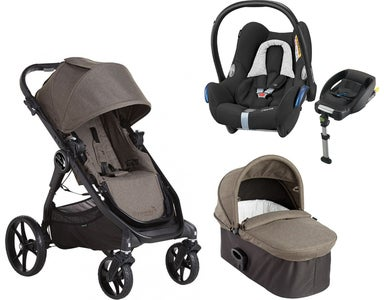 Baby Jogger City Premier Kombivogn Inkl. Maxi Cosi Cabriofix Travelsystem, Taupe