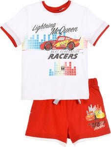 Disney Cars T-Shirt & Shorts, Hvid