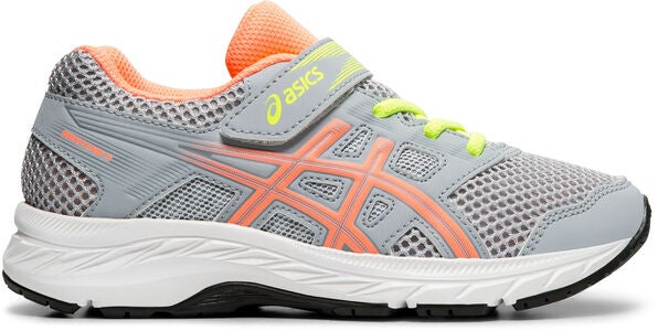 Asics Contend 5 PS Sneakers, Piedmont Grey/Sun Coral
