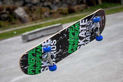 Impulse Skateboard, Sort/Grøn