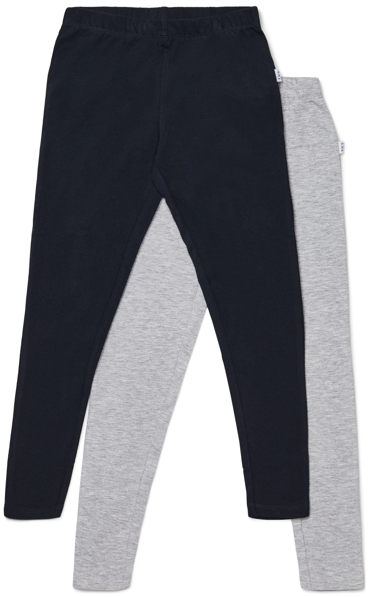 Luca & Lola Linda Leggings 2-pak, Grey Melange/Phantom
