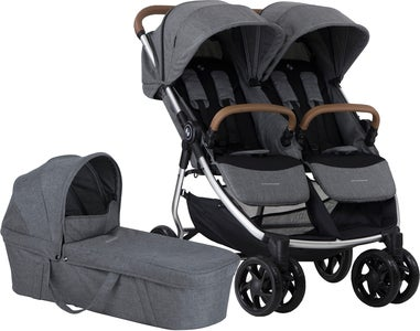 Crescent Duo Lightway Søskendevogn, Grey Melange