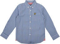 Lyle & Scott Junior Gingham Check Skjorte, True Blue