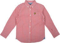 Lyle & Scott Junior Gingham Check Skjorte, Royal Red