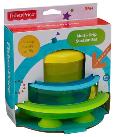 Fisher-Price Tallerkensæt Multi Grip, 3-Pack