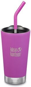 Klean Kanteen Insulated Tumbler m. Sugerørslåg 473ml, Berry Bright