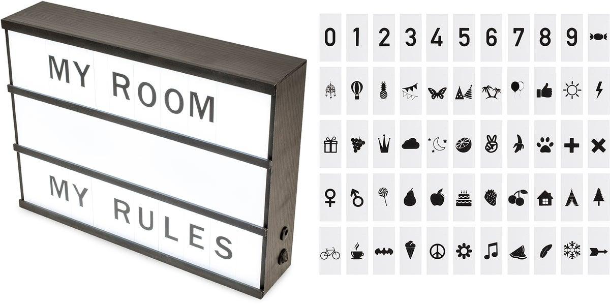 Velsete Køb Minitude Lightbox m. Tal & Bogstaver | Jollyroom SJ-02