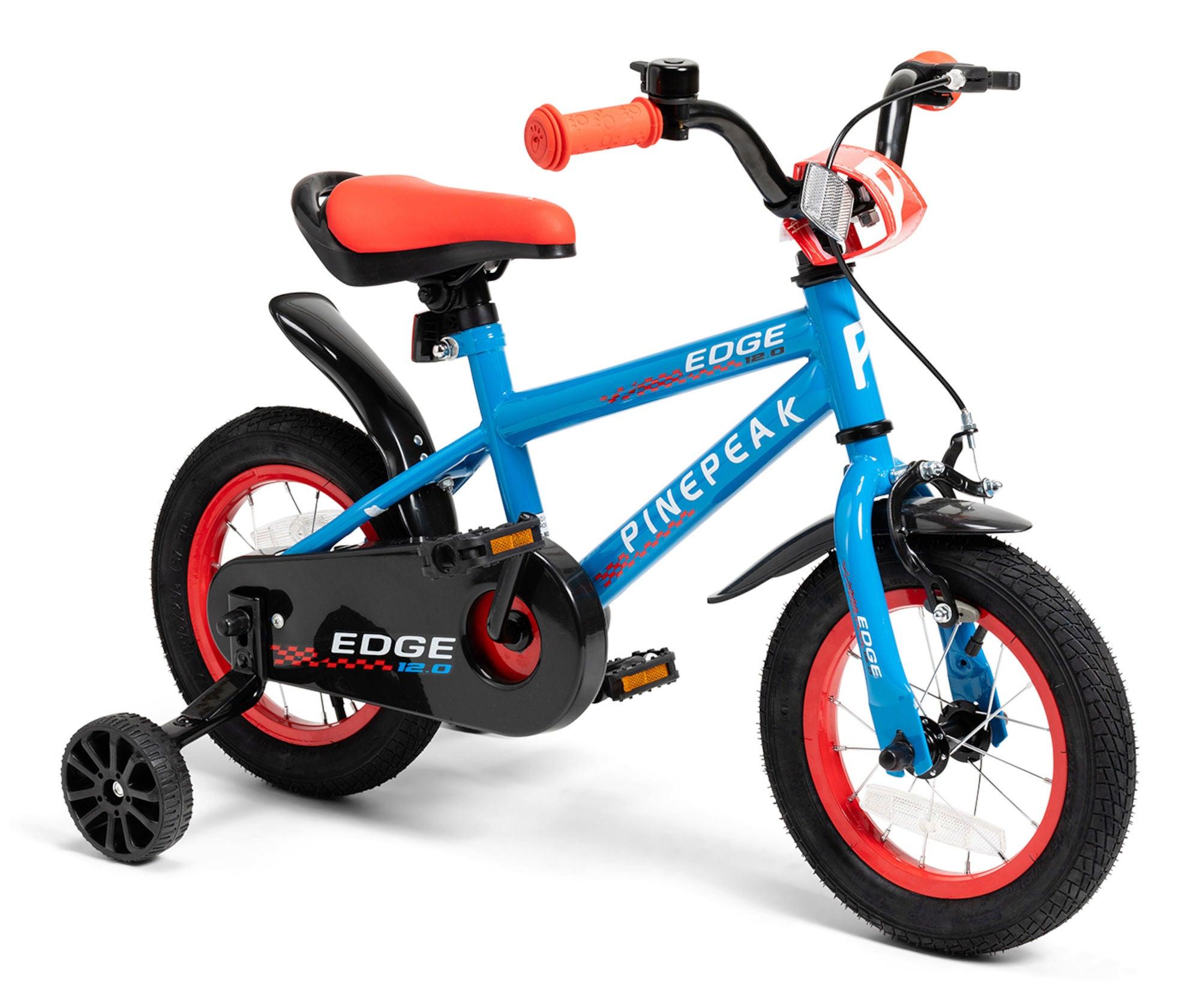 Pinepeak Premium Edge 12 tommer, Blå/Rød | City-cykler