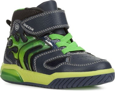 Geox Inek Blinkende Sneakers, Navy/Lime