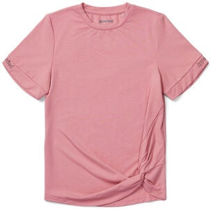 Hyperfied Jersey Knot Logo Top, Blush