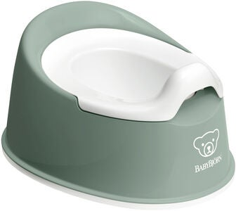 BabyBjörn Smart Potte, Deep Green/White