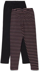 Luca & Lola Agata Leggings 2-pak, Black/Stripes