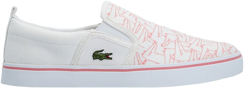 Lacoste Gazon 318 Sneakers, White/Pink
