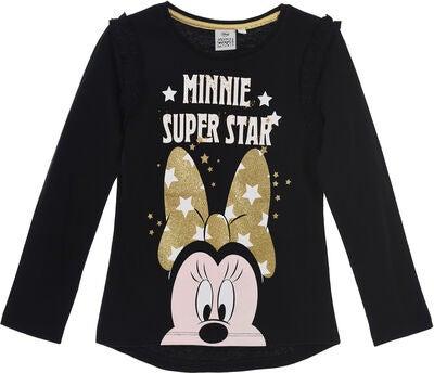 Køb Disney Minnie Mouse Langærmet T Shirt, Black   Jollyroom