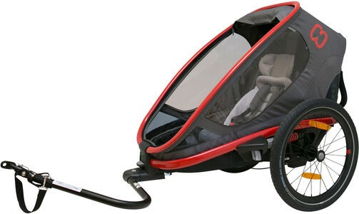 Hamax Outback One Reclining Cykelanhænger 2019, Red/Charcoal