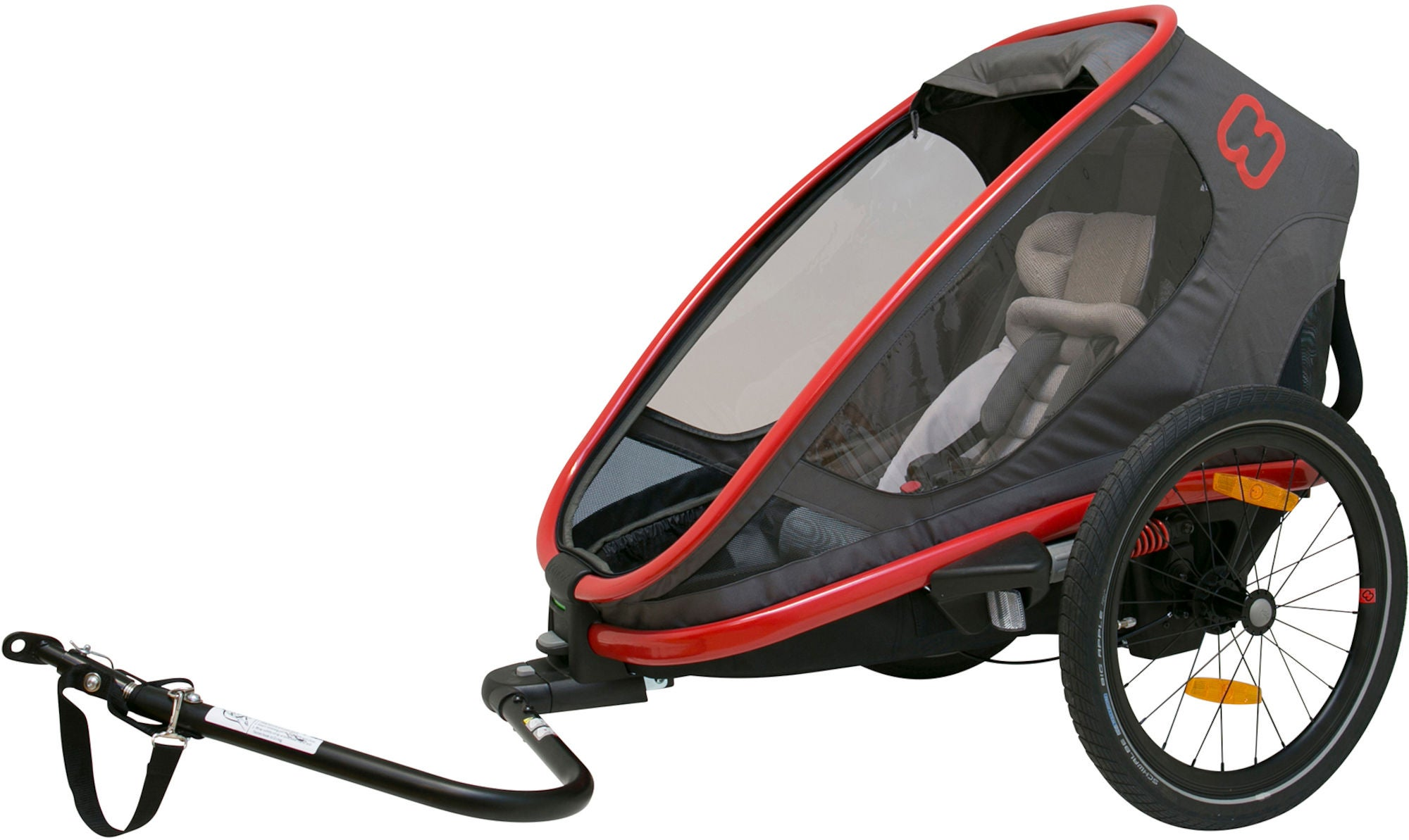 Hamax Outback One Reclining Cykelanhænger 2019, Red/Charcoal | bike_trailers_component