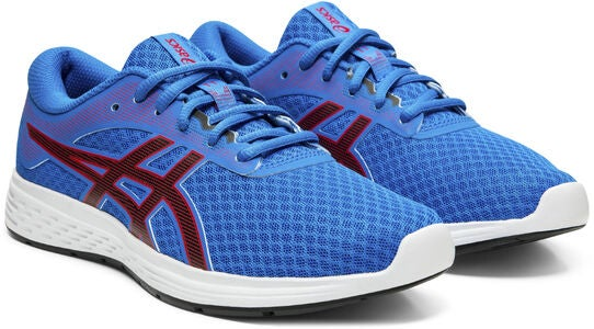 Asics Patriot 11 GS Sneakers, Electric Blue/Speed Red
