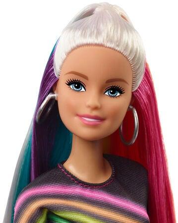 barbie glitter hår