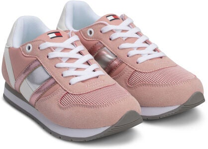 Tommy Hilfiger Low Cut Lace Sneakers, Pink