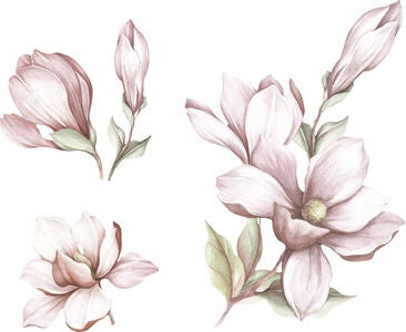 That's Mine Wallsticker Mangolia Flower, Rose