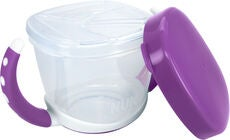 NUK Easy Learning Snack Box Madkasse, Violet