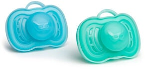Herobility Pacifier Sut 0+ mån 2-pak, Blue/Turquoise