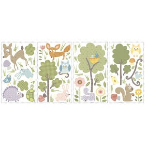 RoomMates Wallstickers Woodland Forest Animals