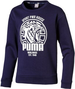 Puma Alpha Graphic Crew Trøje, Peacoat