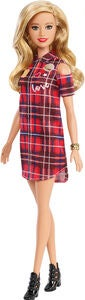Barbie Fashionistas Dukke Patched Plaid